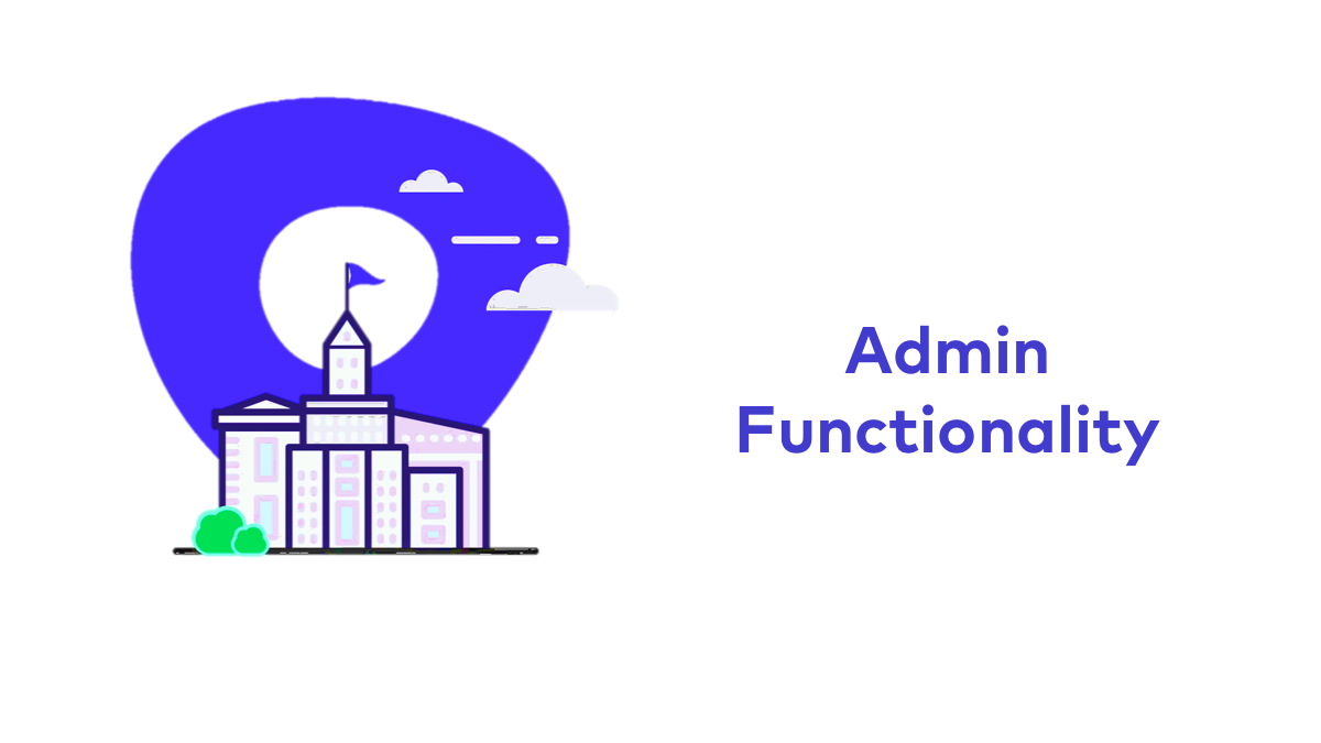 Admin Functionality