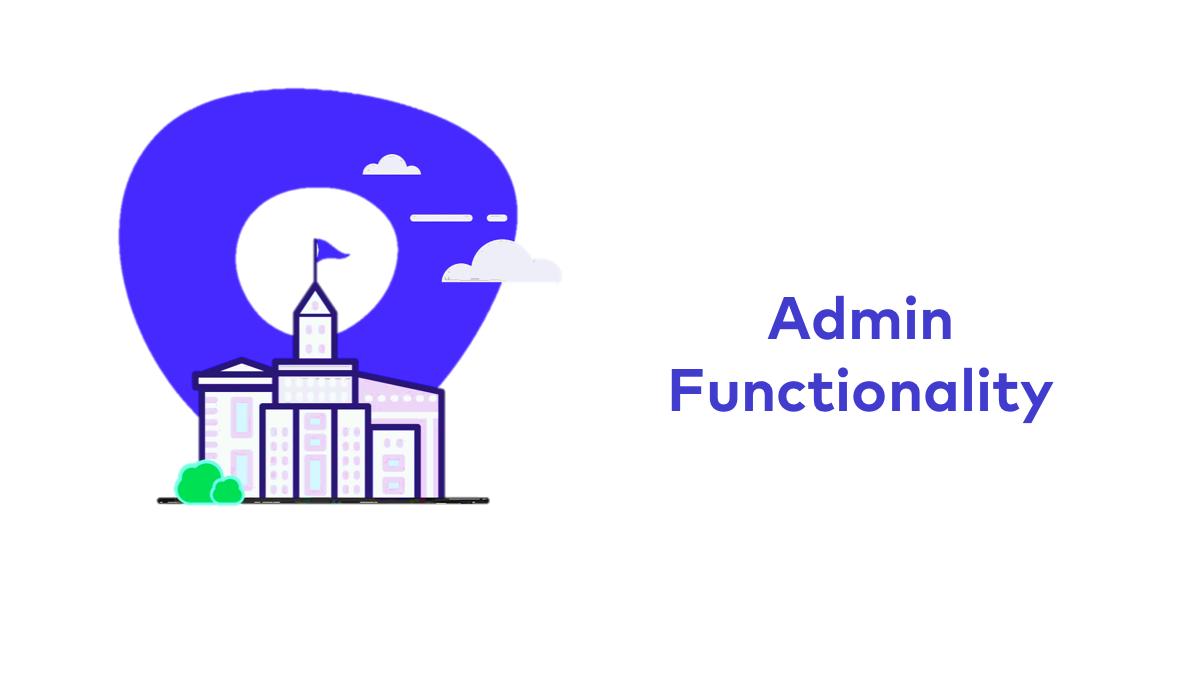 Admin Functionality