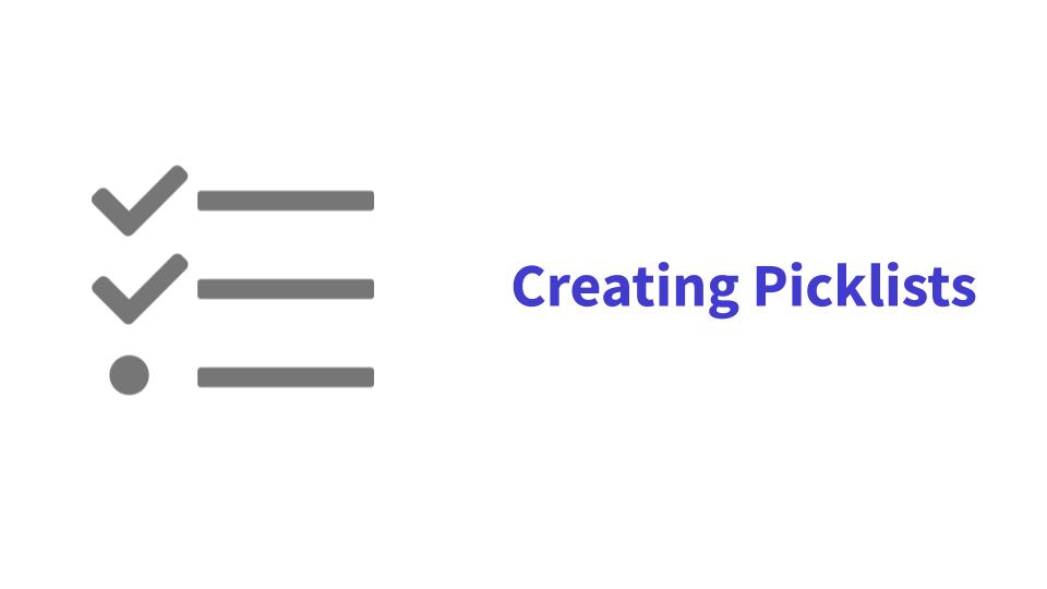 Creating Picklists