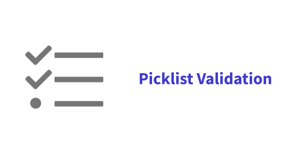 Picklist Validations (Outdated and Depreciated)
