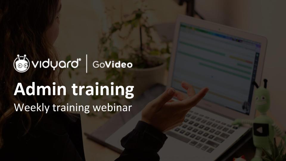 GoVideo Admin Training Webinar