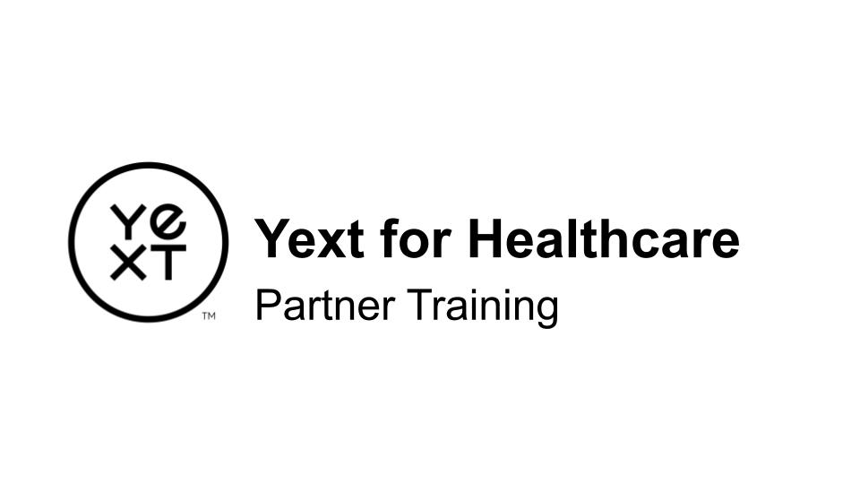 Partner | Yext for Healthcare