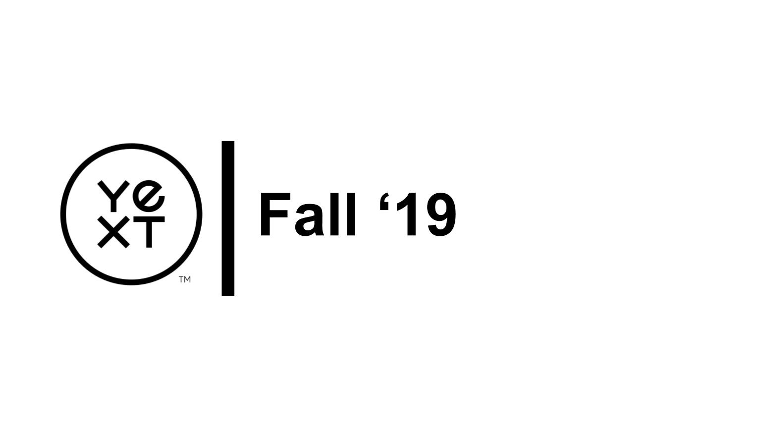 Partner | Fall '19 Release Training