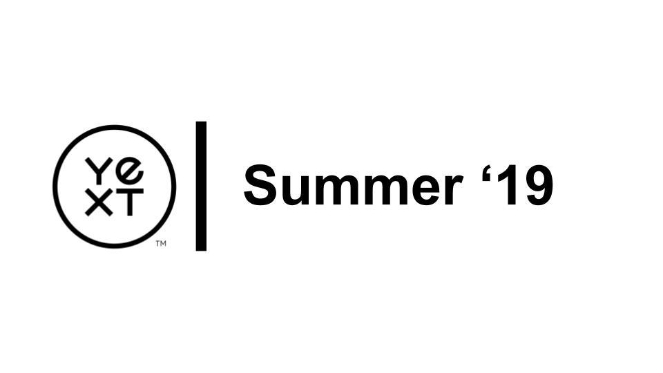 Partner | Summer 2019 Release