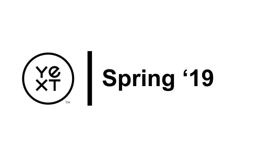 Partner | Spring 2019 Release