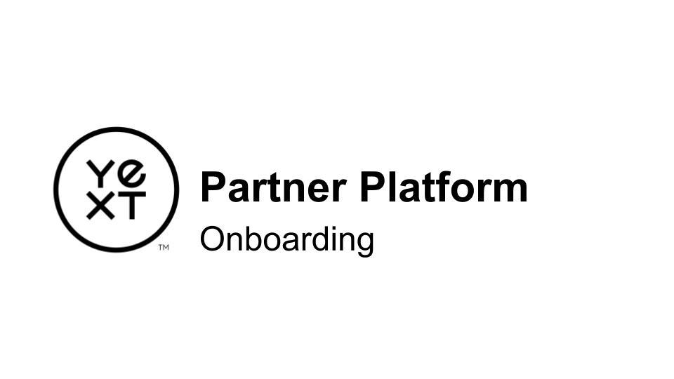 Partner | Platform Onboarding