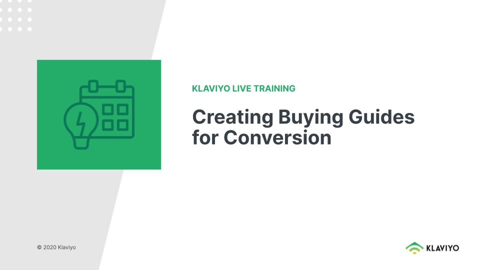 Marketing During COVID-19:  Creating Buying Guides for Conversion