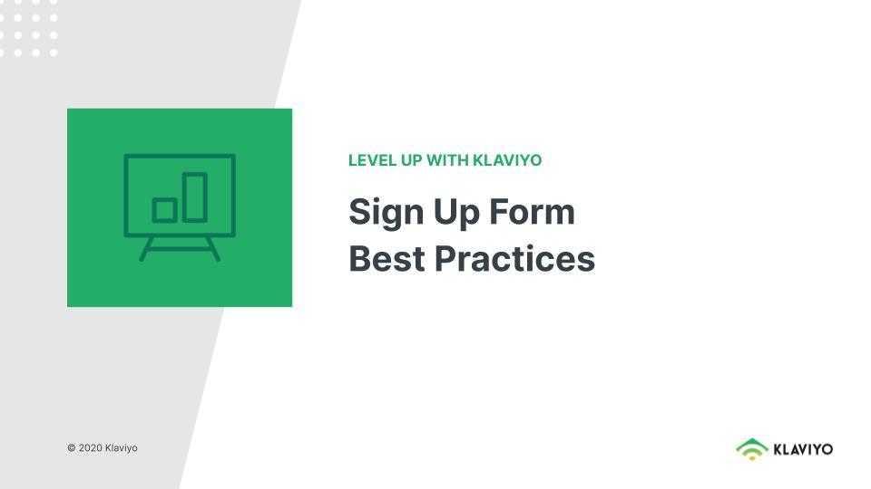 Level Up: Signup Form Best Practices