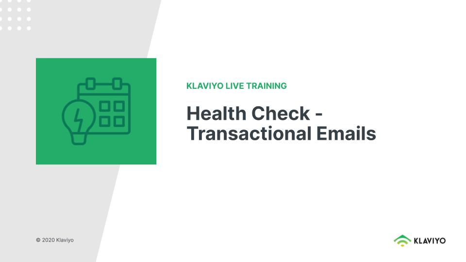 Marketing During COVID-19: Health Check - Transactional Emails