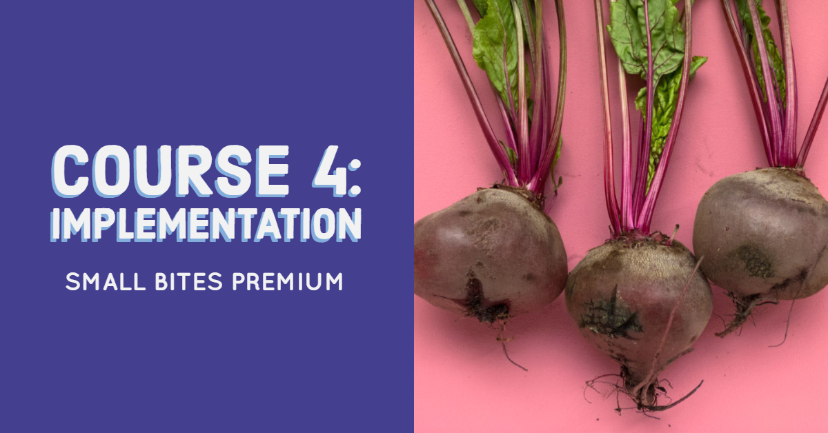 Small Bites Premium Training Course 4: Implementation