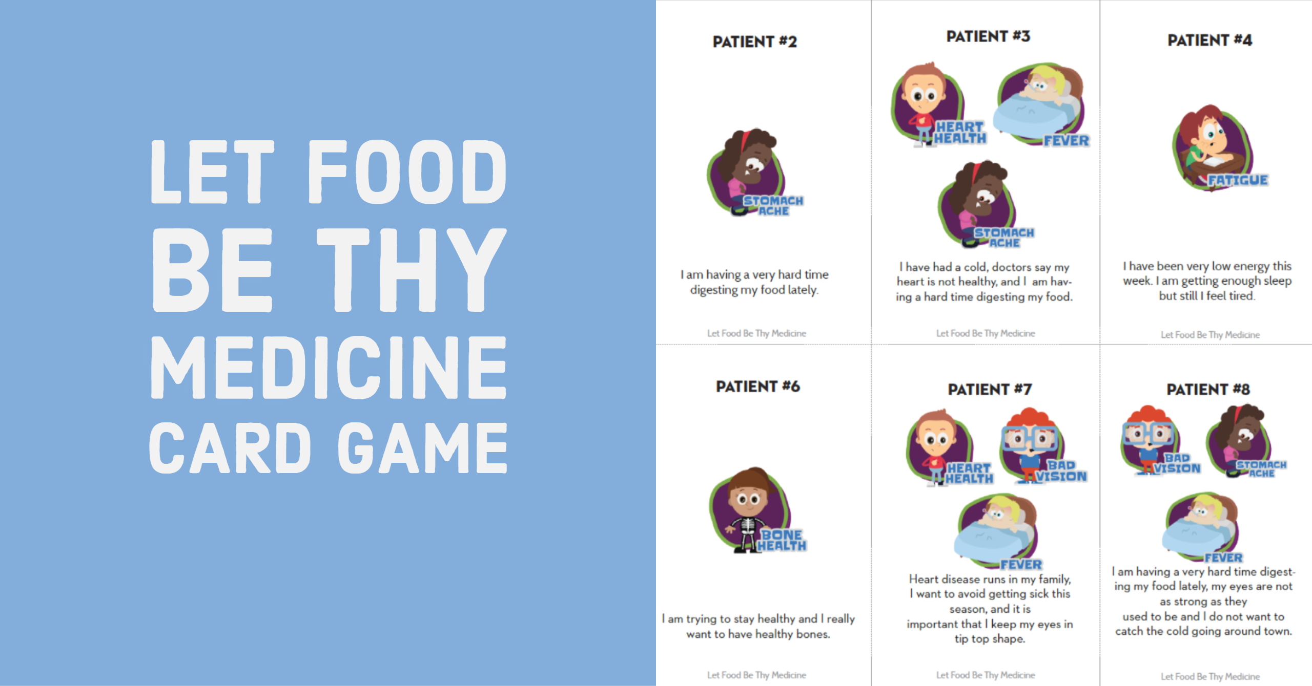 Materials: Let Food Be Thy Medicine Game
