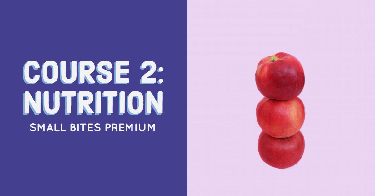 Small Bites Premium Training Course 2: Nutrition