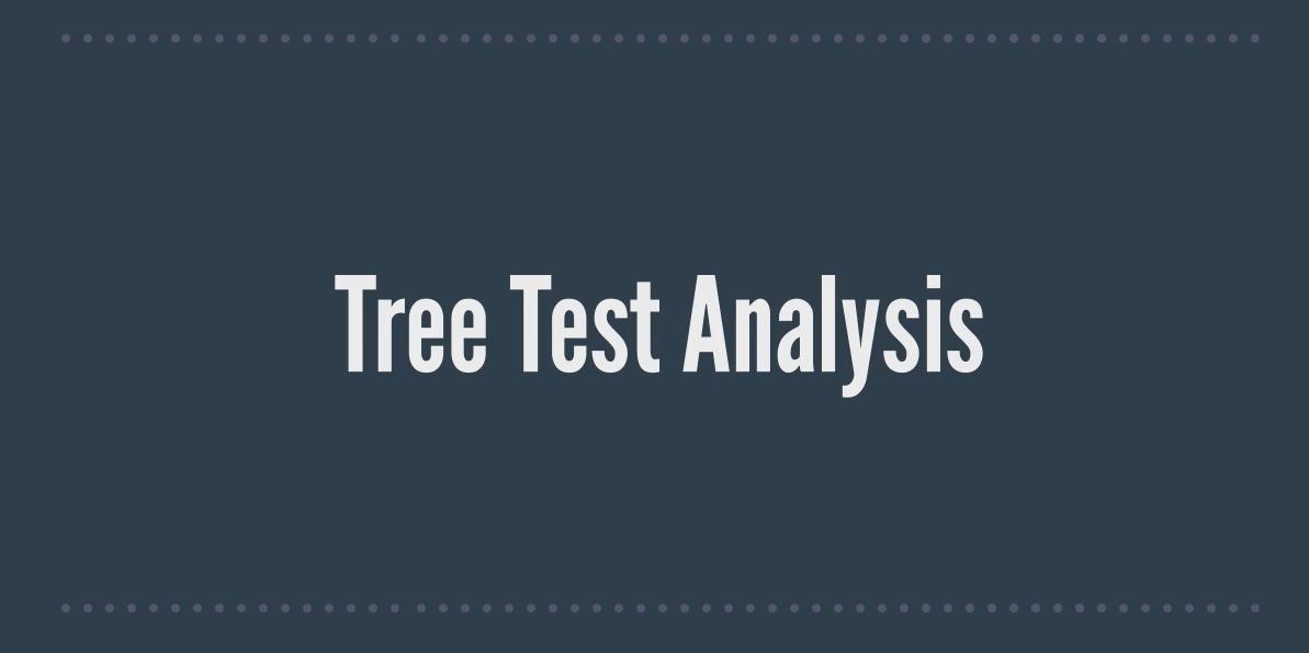 NEW Tree Test Analysis