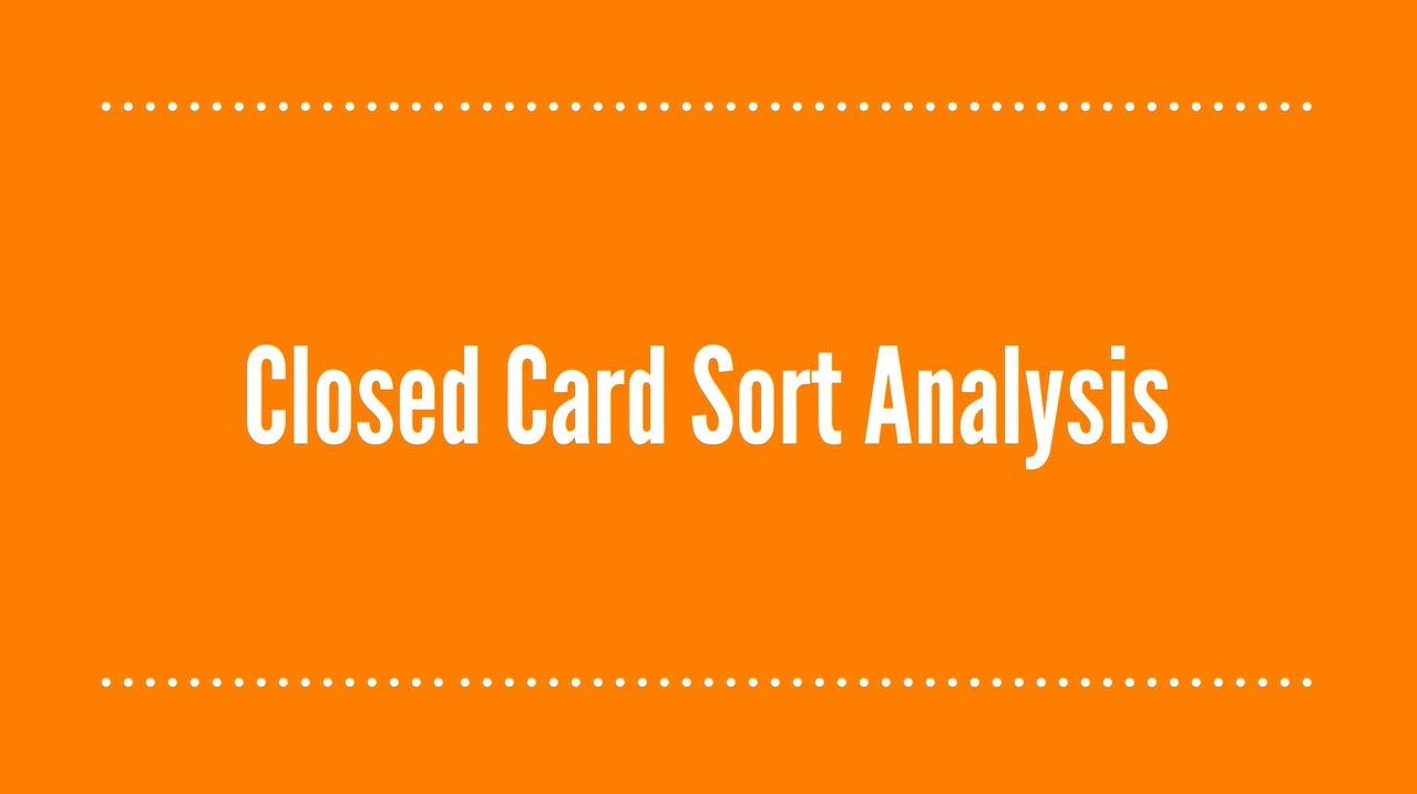 Closed Card Sort Analysis