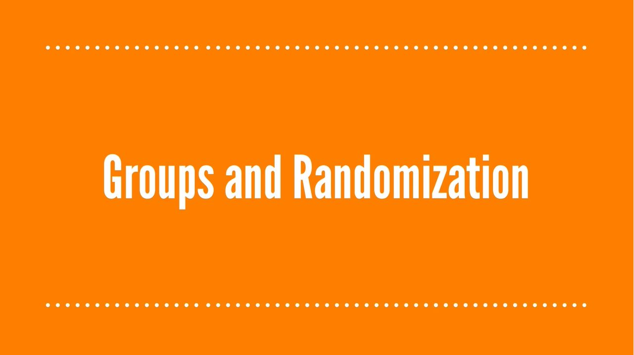 Groups and Randomization