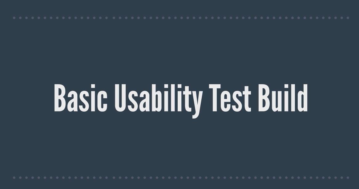 Basic Usability