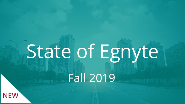State of Egnyte (Fall 2019)