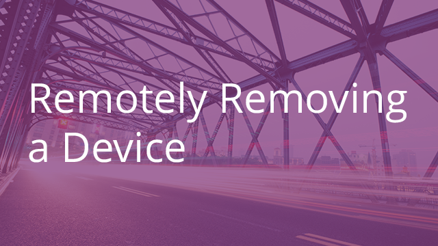 Remotely Removing a Device from Egnyte Connect.