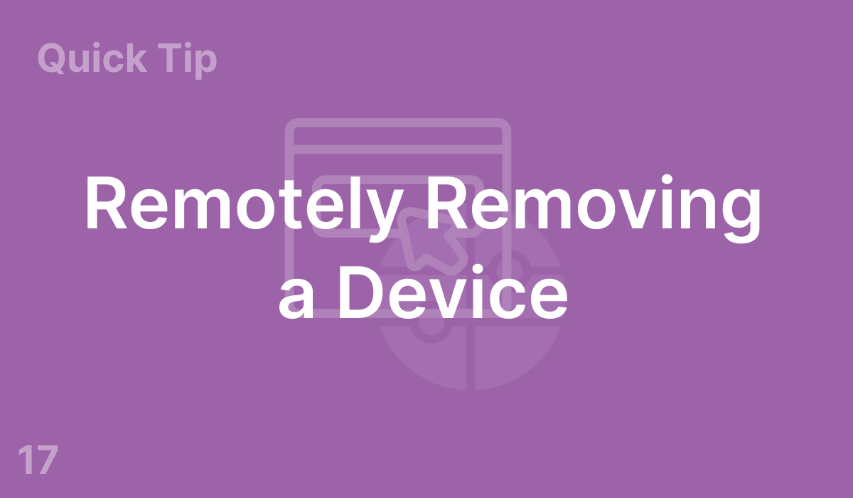 Remotely Removing a Device (#17)