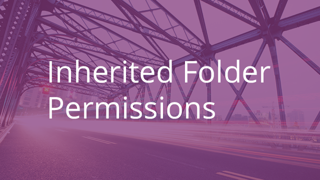Inherited Folder Permissions