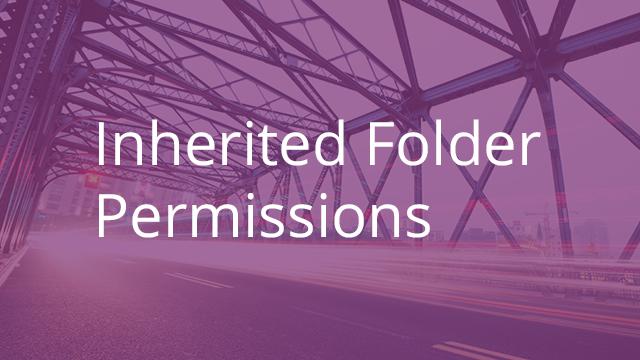 Inherited Folder Permissions