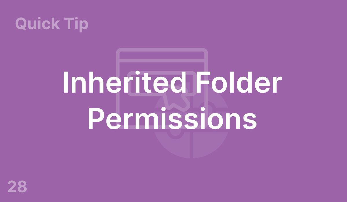 Inherited Folder Permissions (#28)