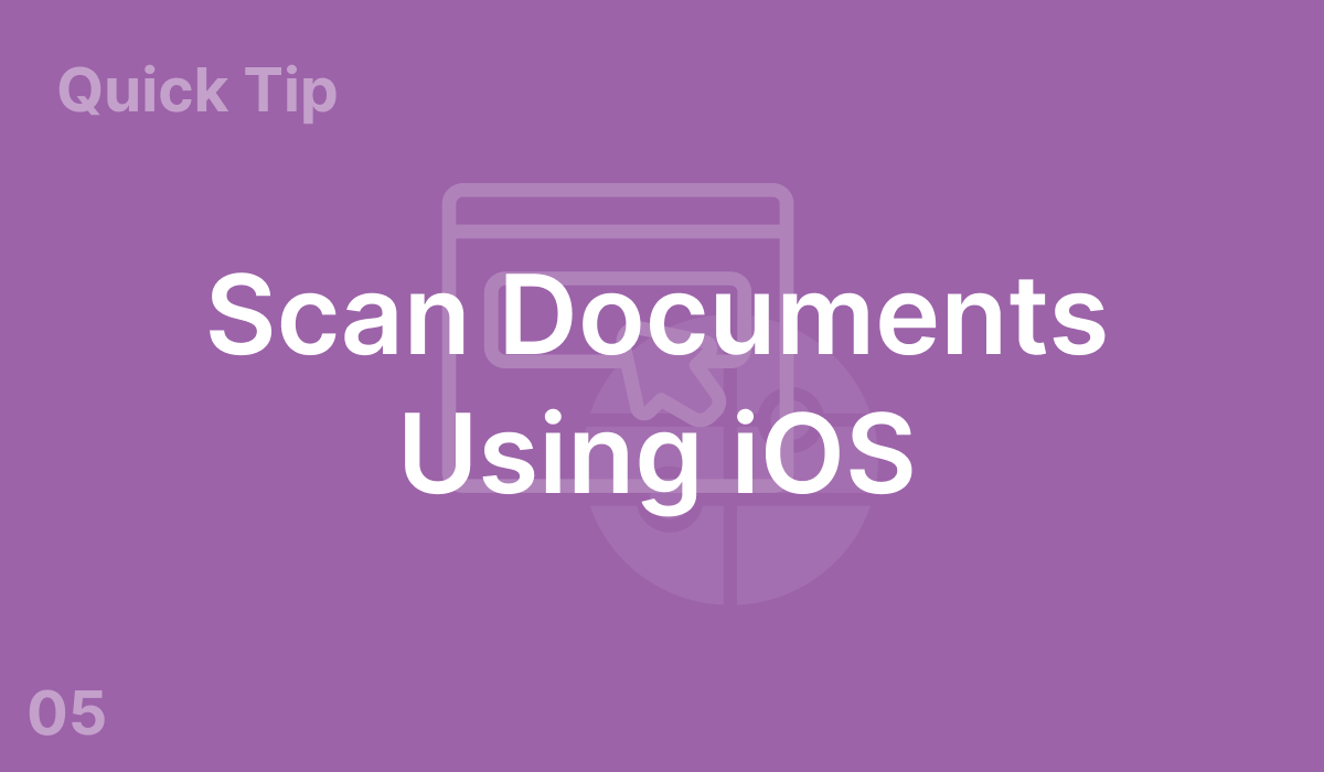 Scan Documents Using iOS (#5)