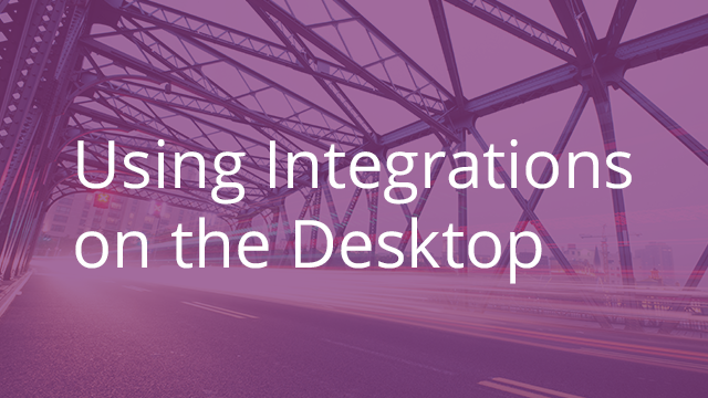 Using Integrations with Egnyte on the Desktop