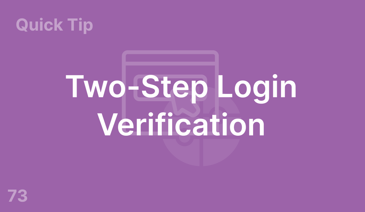 Two-Step Login Verification (#73)