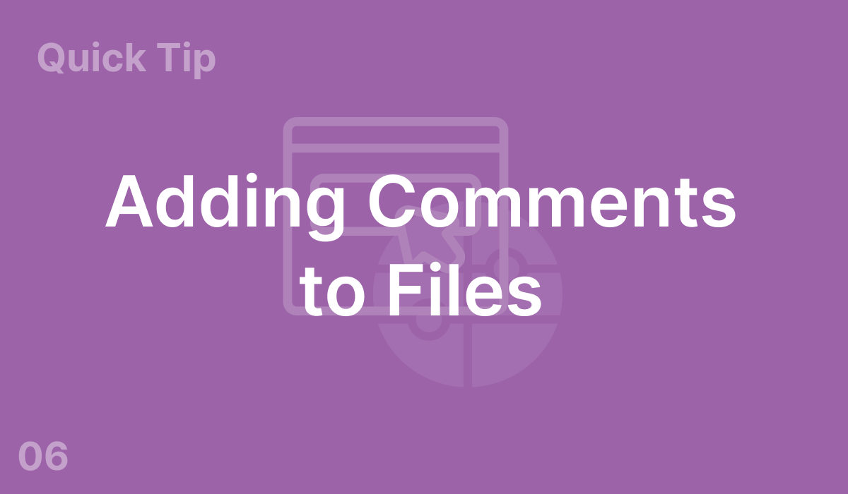 Adding Comments to Files (#6)