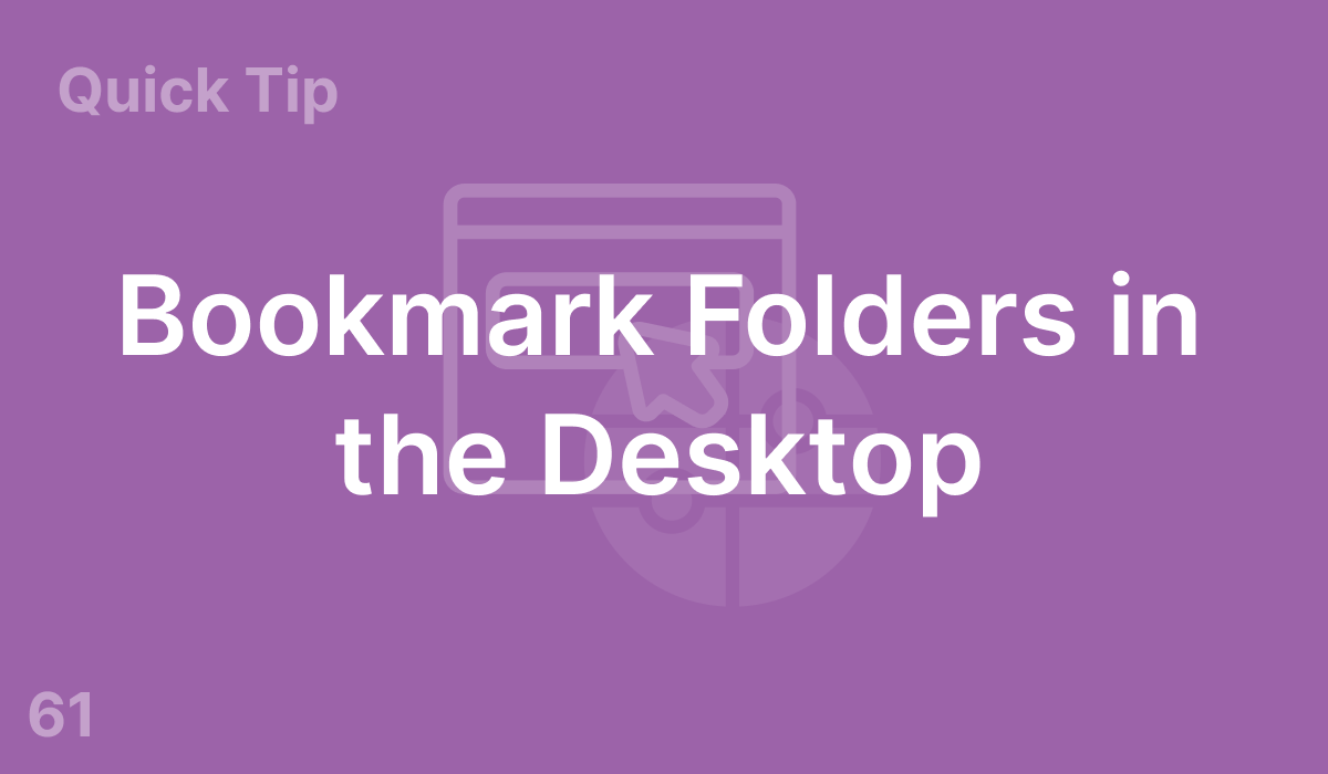 Bookmark Folders on the Desktop (#61)