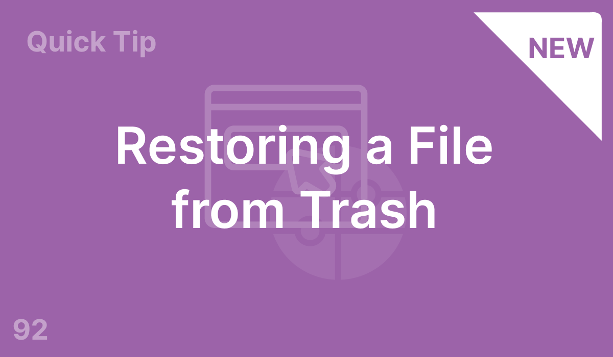 Restoring a File from Trash (#92)