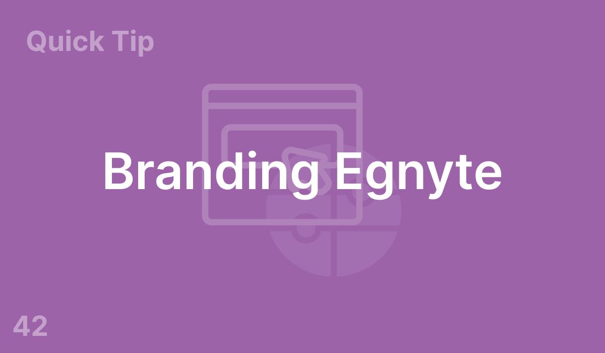 Branding Egnyte (#42)