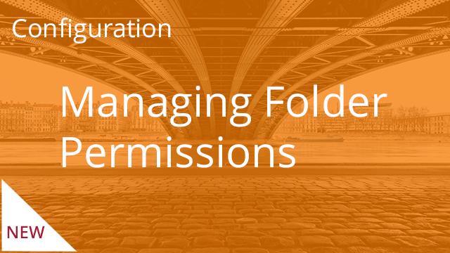 Managing Folder Permissions