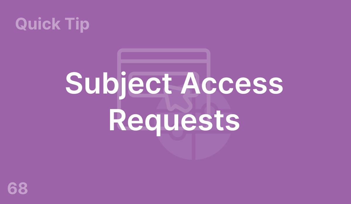 Subject Access Requests (#68)