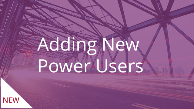 Adding New Power Users