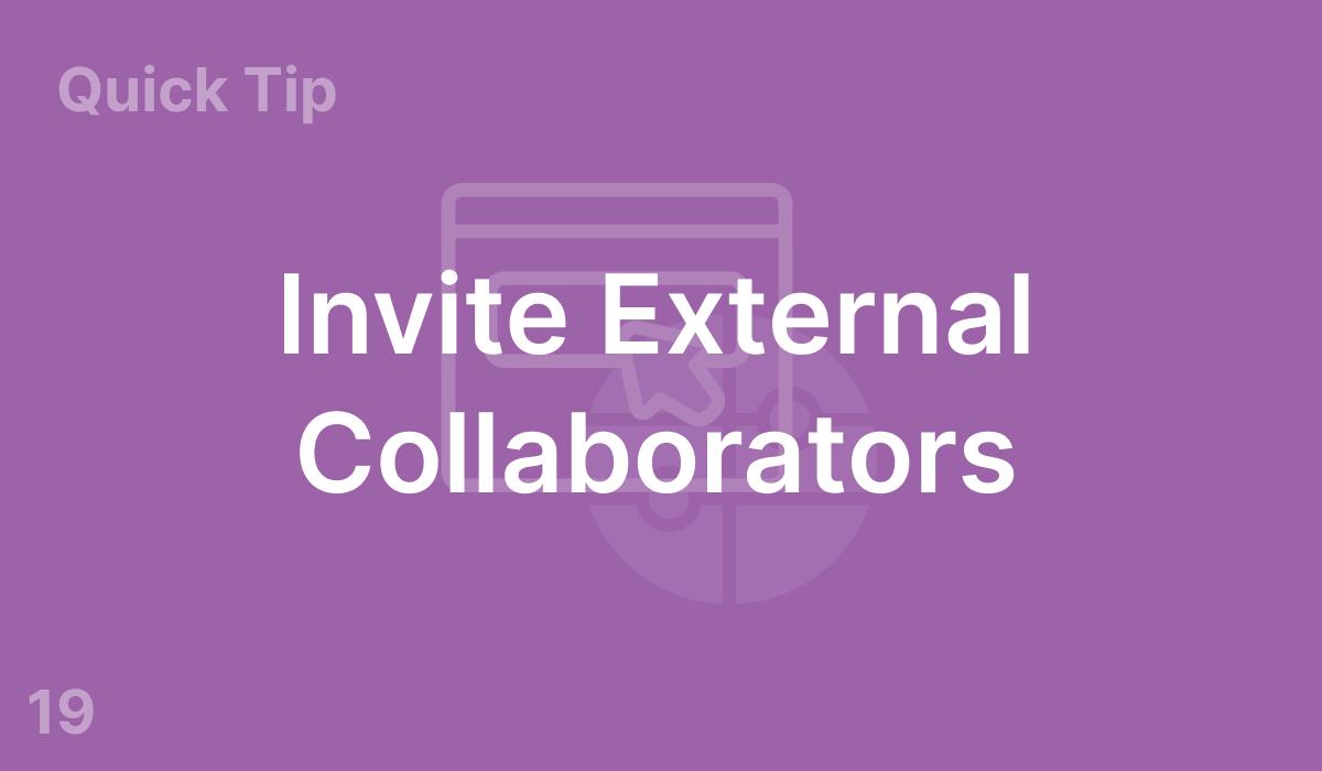 Invite External Collaborators (#19)