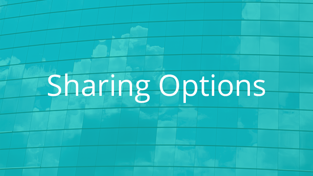 Sharing Options