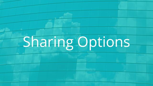 Sharing Options