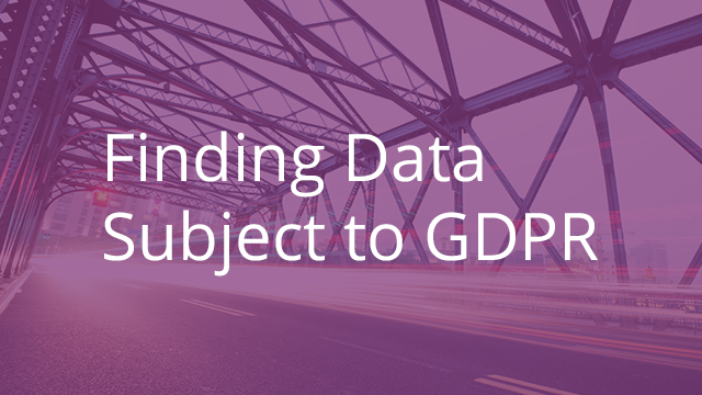 Finding Data Subject to GDPR