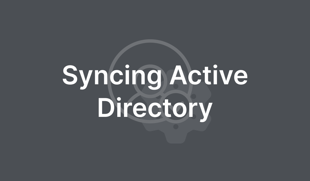 Syncing Active Directory