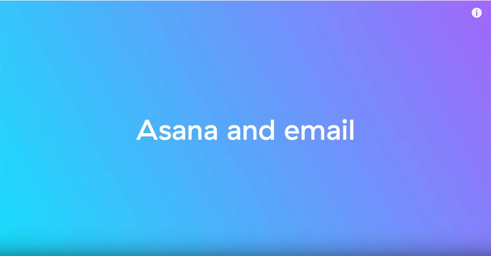 Asana and email