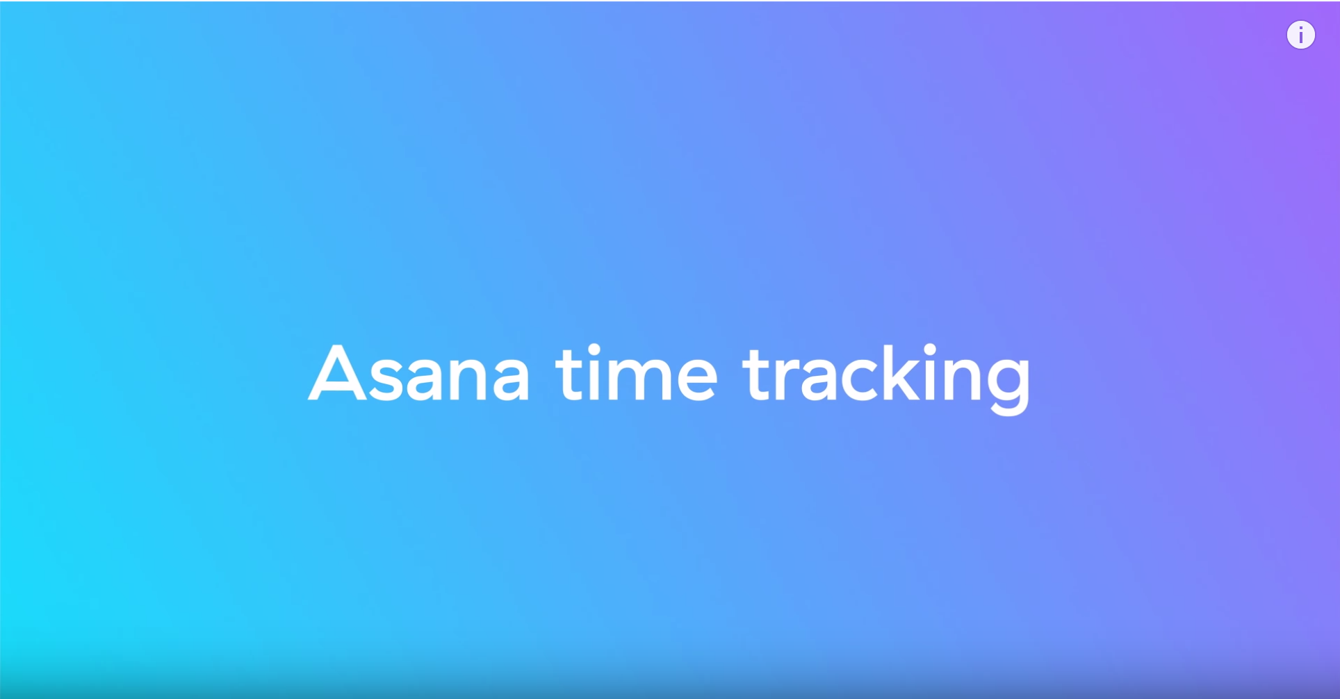 Asana for time tracking