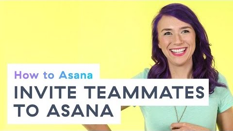 Inviting teammates to Asana