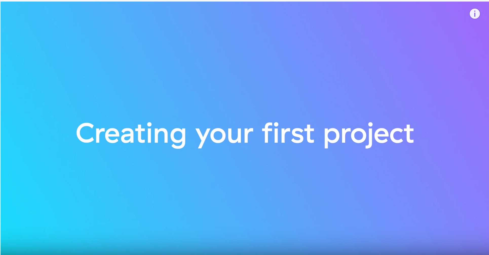 Creating your first Asana project