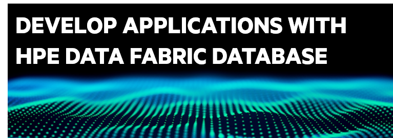 Develop Applications with HPE Data Fabric Database - DEV 332