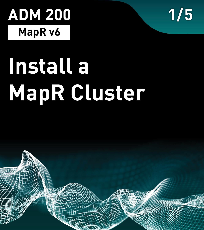 Install a MapR Cluster (MapR v6)
