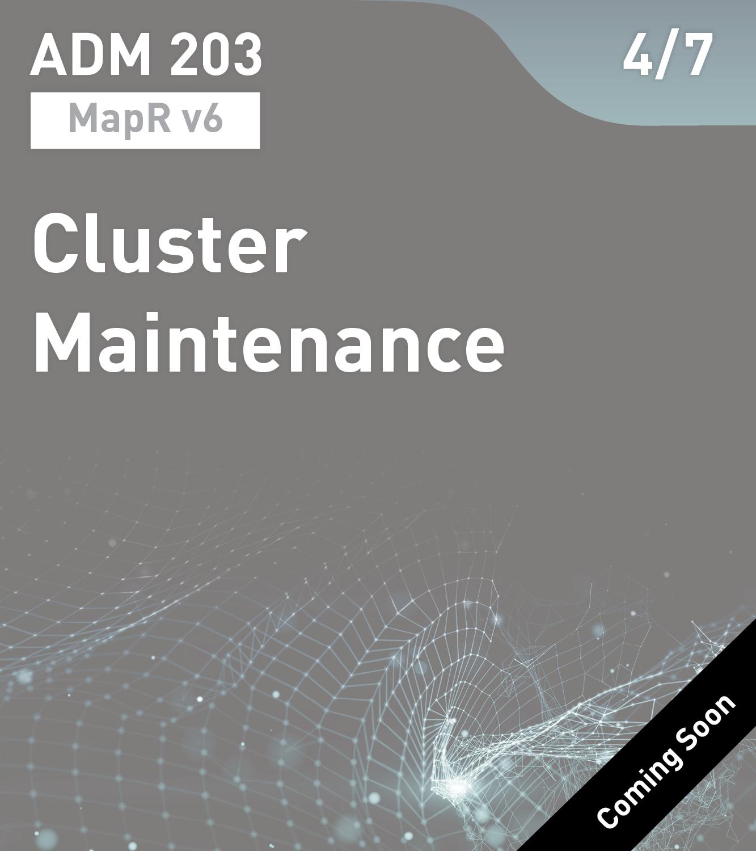 ADM 203 - Cluster Maintenance (MapR v6)