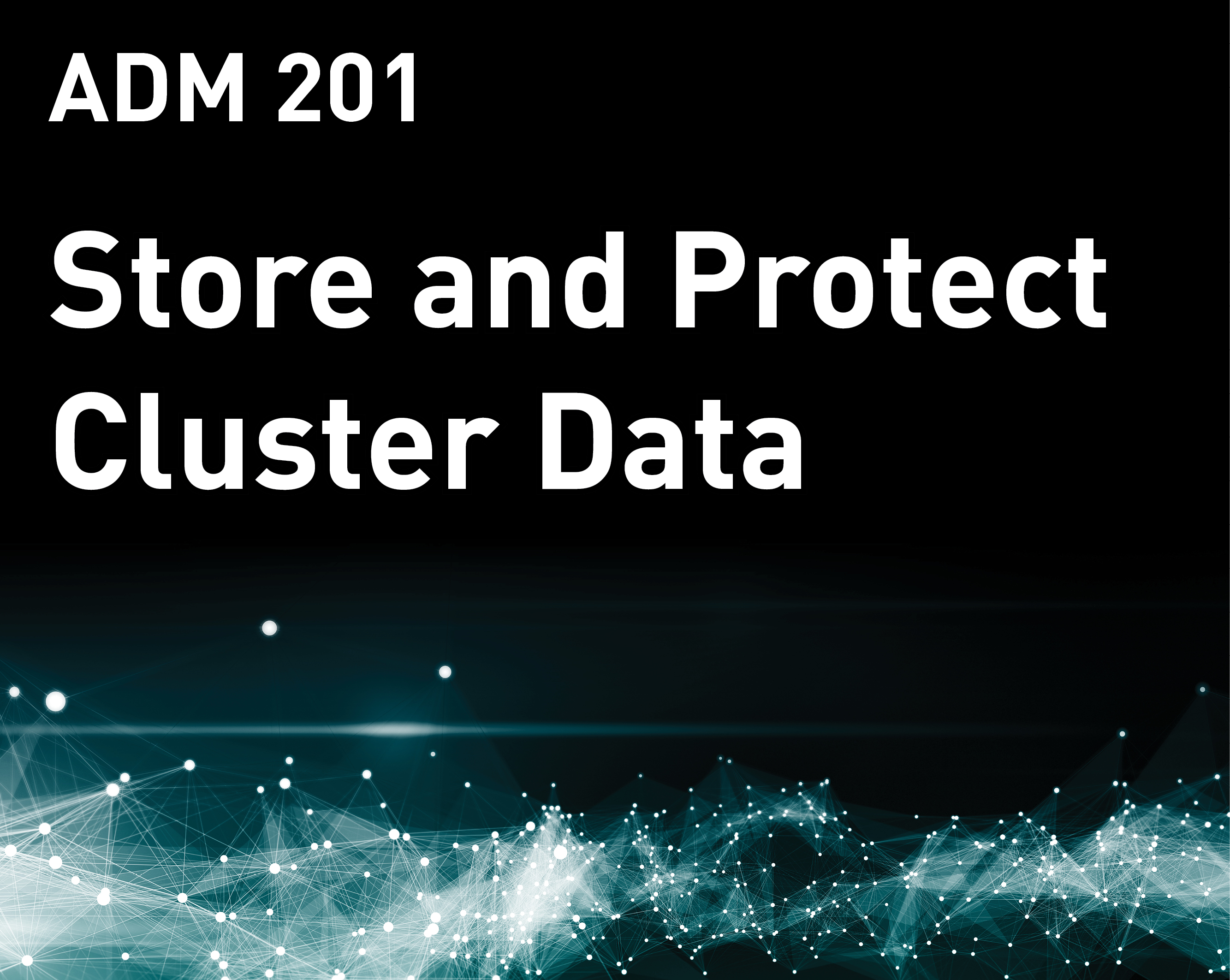 Store and Protect Cluster Data (MapR v6)