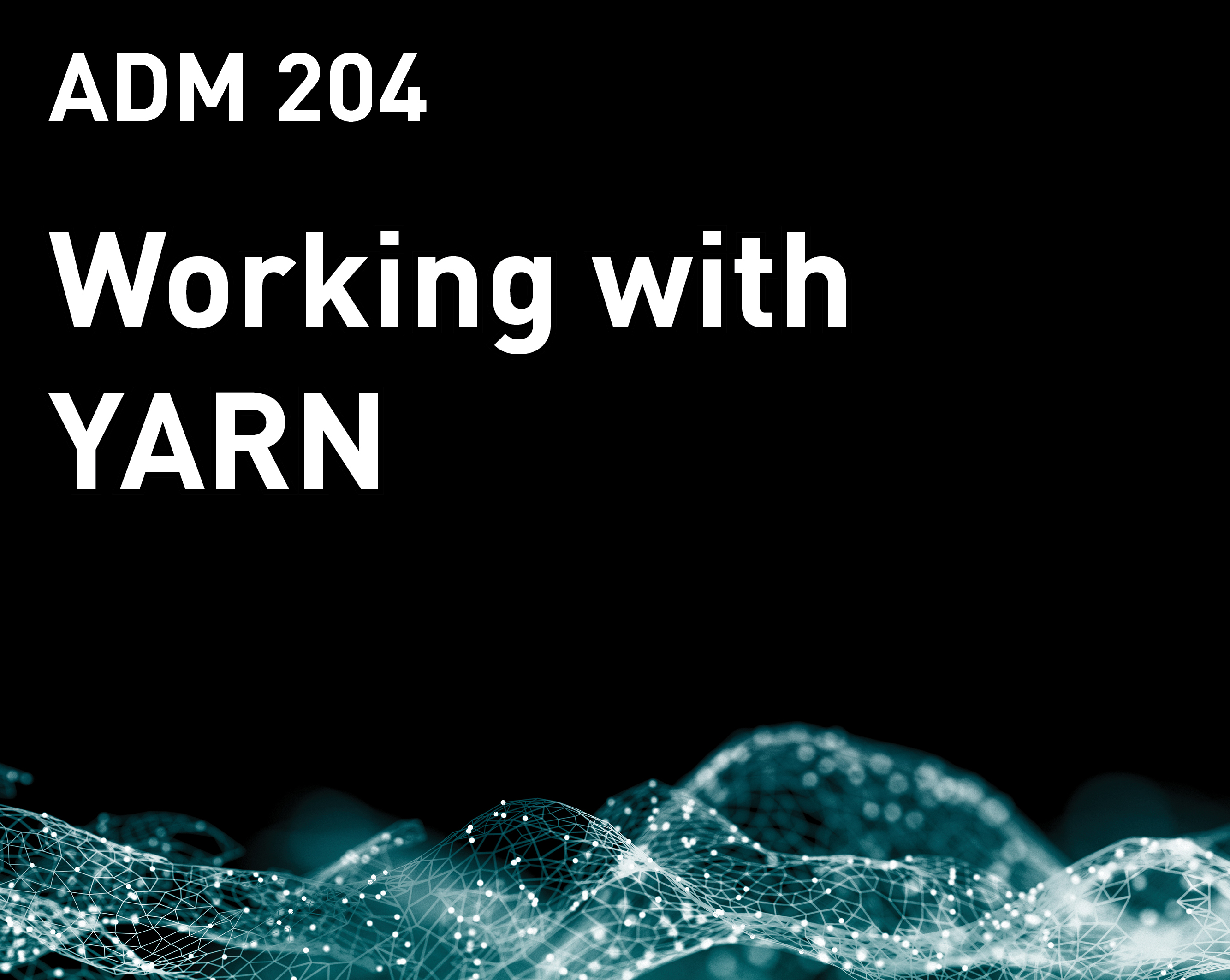 Working with YARN (MapR v6)